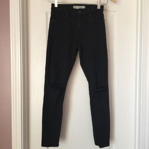 Topshop Moto Leigh Women's Destroyed Jean Size 25